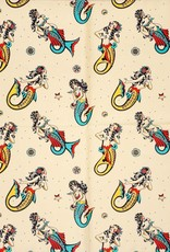 Sourpuss Sourpuss Rosie Mermaids Scarf