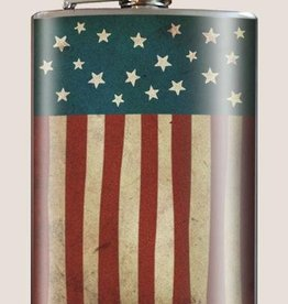 T & M Trixie & Milo US Flag Flask