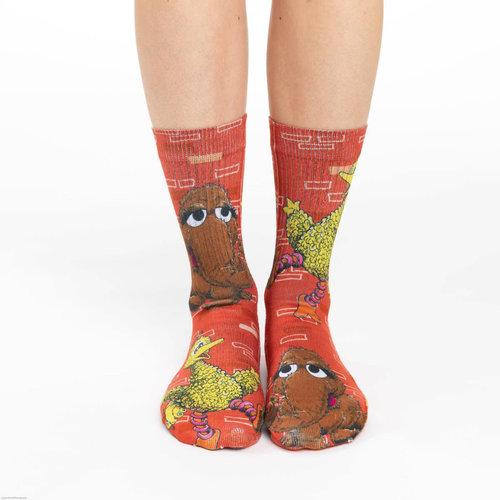 Good Luck Sock Big Bird And Snuffleupagus Socks
