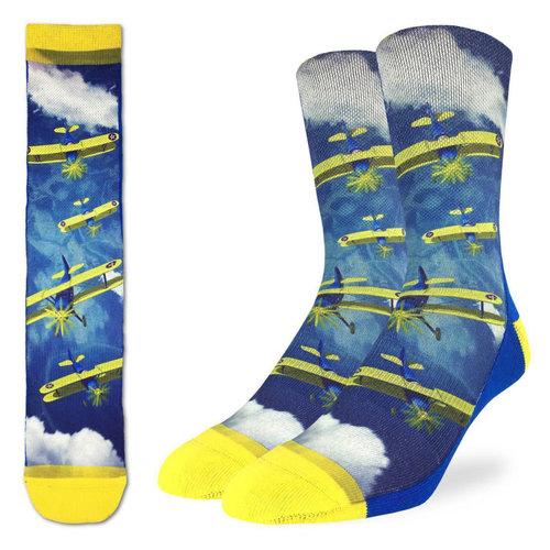 Good Luck Sock Biplane Fighter Socks
