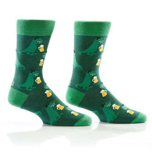 Yo Sox Thirsty Saurus Crew Socks