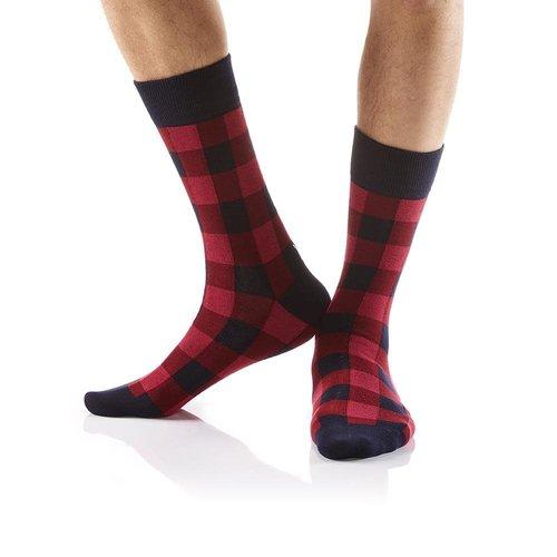 Yo Sox Buffalo Plaid Crew Socks