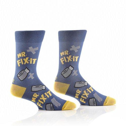 Yo Sox Mr. Not-So Fix It Crew Socks