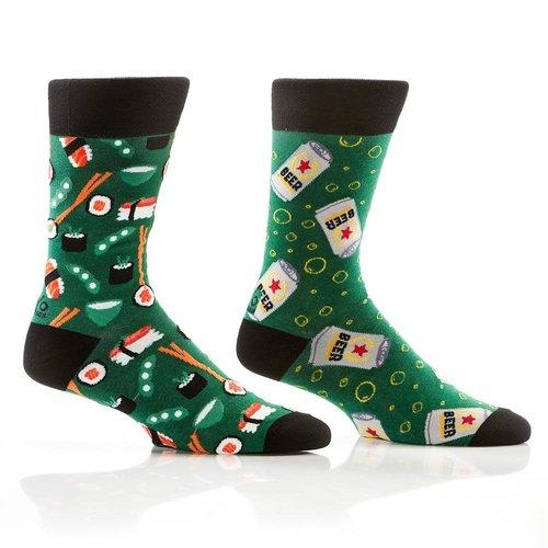 Yo Sox Beer & Sushi Crew Socks