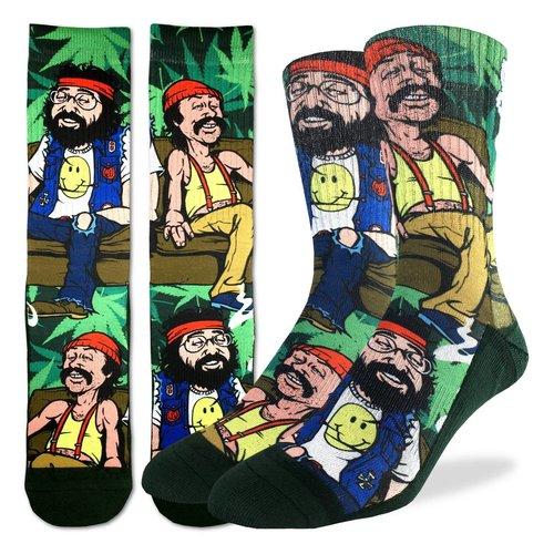 Good Luck Sock Cheech & Chong On Couch Socks