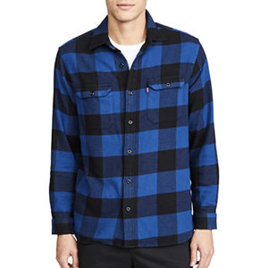 Levis Jackson Worker Overshirt - Blue Plaid