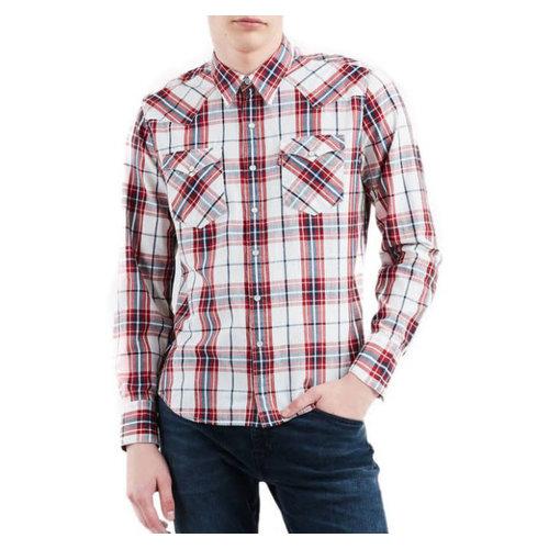 Levis Barstow Western Shirt - Wildcat Crimson