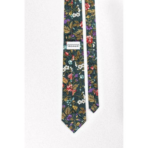 Beaux Autumn Floral Skinny Necktie