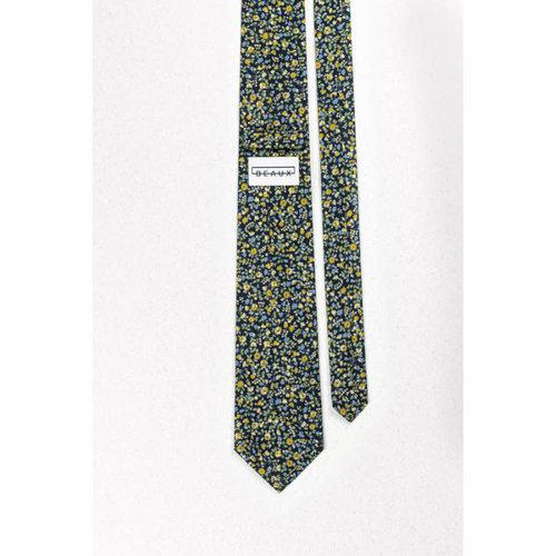 Beaux Buttercup Blue Floral Skinny Necktie
