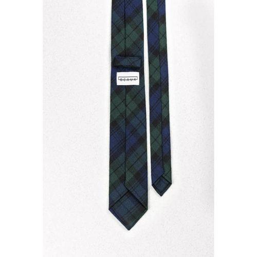 Beaux Lambie Tartan Wool Skinny Necktie