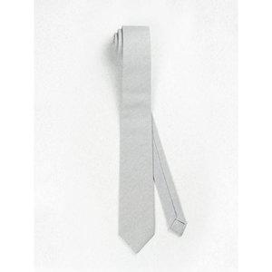 Beaux Dove Grey Linen Skinny Necktie