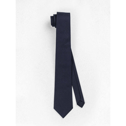 Beaux Midnight Navy Linen Skinny Necktie