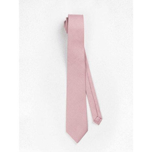 Beaux Dusty Pink Linen Skinny Necktie