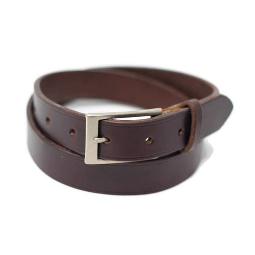 Fontana Leather Design English Bridle Belt - Havana