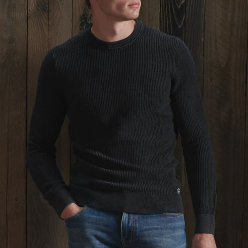 Superdry Academy Dyed Texture Crew Jumper