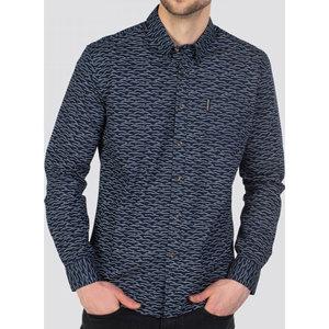 Ben Sherman Wave Texture L/S Print Shirt