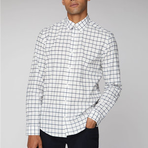 Ben Sherman Boucle Windowpane L/S Shirt
