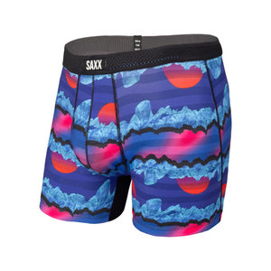 SAXX Hot Shot Boxer Brief - Blue Iceberg Stripe