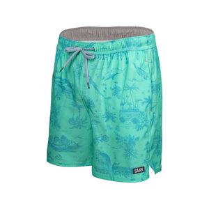 "SAXX Oh Buoy Swim Shorts 7"" - Fiji Astro Surf & Turf"