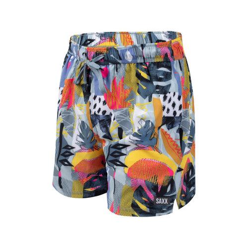 """SAXX Oh Buoy Swim Shorts 5"""" - Cut Work Tropical"""