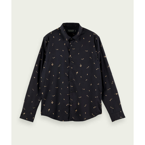 Scotch & Soda Printed Organic Cotton Button-Up Shirt