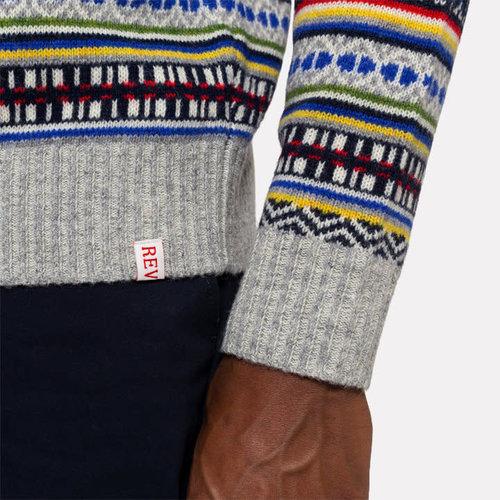 RVLT Striped Knit Sweater