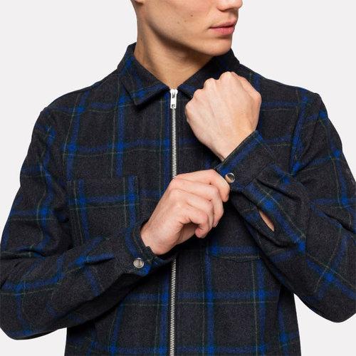RVLT Wool Blend Zip Overshirt