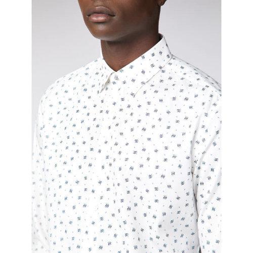Ben Sherman Micro Geo Print L/S Shirt