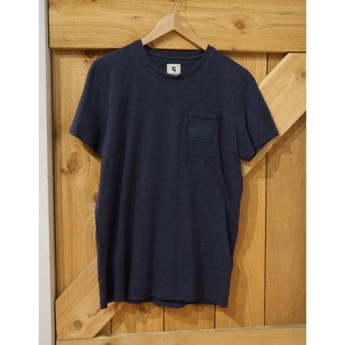 Garcia Blue Stripe Pattern T-Shirt