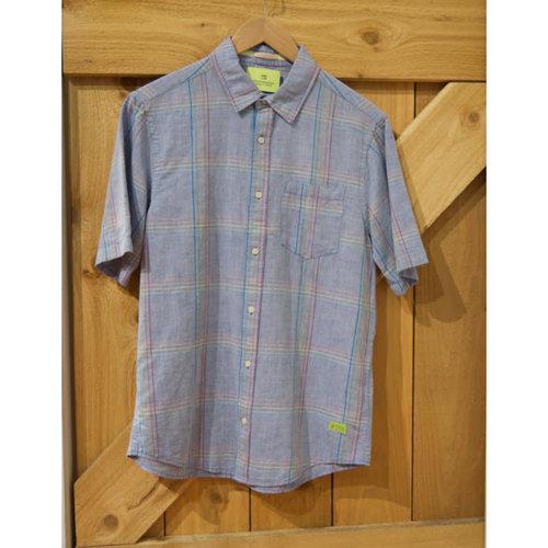 Scotch & Soda Linen Stripe S/S Shirt