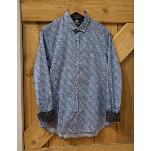 English Laundry Printed Leaves L/S Dress Shirt