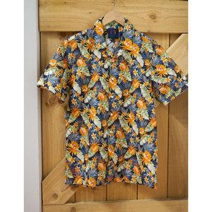 John Lennon Collection Hawaiian Floral S/S Shirt
