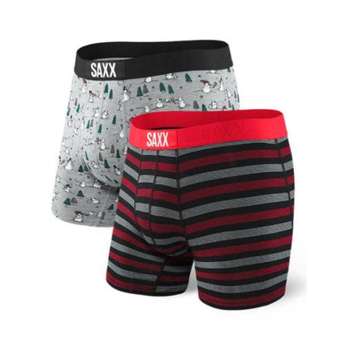 SAXX Vibe 2 Pack - Snowball Fight/Stripe