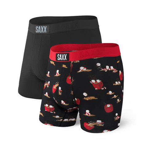 SAXX Vibe 2 Pack - Hot Coco Hot Tub/Black