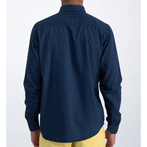 Garcia Indigo Dot Button-Up L/S Shirt