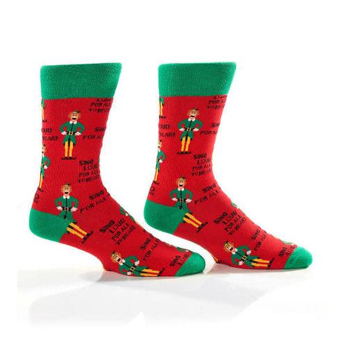 Yo Sox Elf Carols Crew Socks