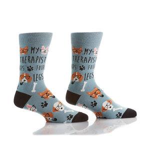 Yo Sox Dog Therapist Crew Socks