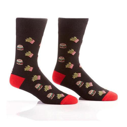 Yo Sox Burgers & Fries Crew Socks
