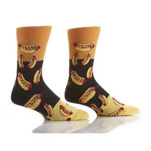 Yo Sox Hot Dogs Crew Socks