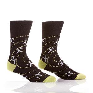 Yo Sox Airplanes Crew Socks