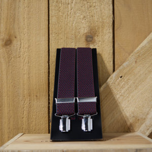 Lindenmann Checked Diamond Suspenders
