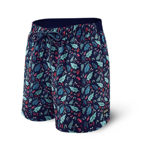 "SAXX Cannonball Swim Shorts 17"" - Pop Flora"