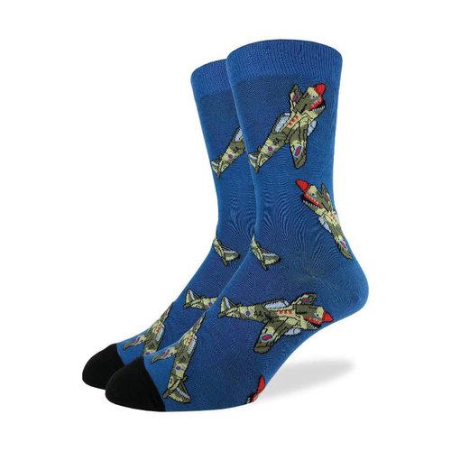 Good Luck Sock Fighter Jet Socks