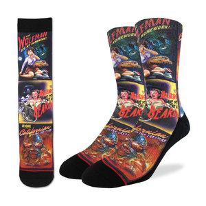 Good Luck Sock B-Movie Horror Socks