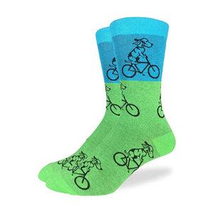 Good Luck Sock Dog Riding Bike Socks