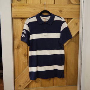 Blend Striped Rugby Polo