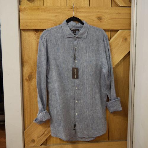 Michael Kors Slim Linen Dress Shirt