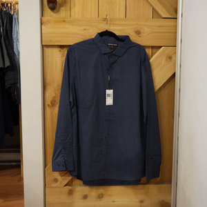 Michael Kors Midnight Paisley Dress Shirt