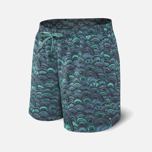 SAXX Cannonball 2N1 Swim Shorts - Fish Scales