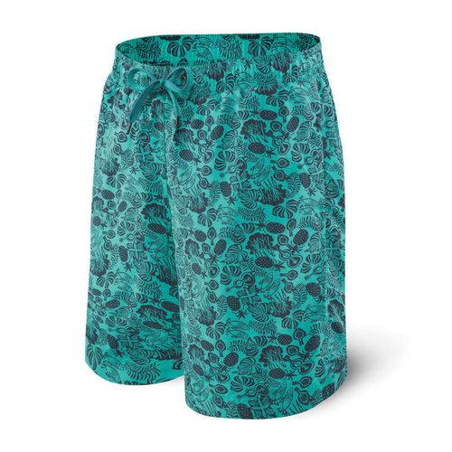 "SAXX Cannonball Swim Shorts 19"" - Jungle Jam"